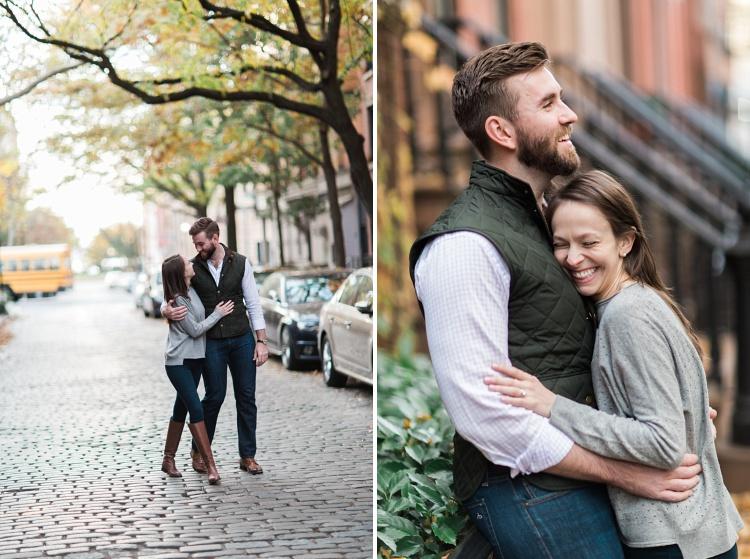 NYC_Soft_Romantic_Cobblestone_Street_Engagement_Photos_Vicki_Erik_Photographers